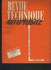 (34A) REVUE TECHNIQUE AUTOMOBILE RENAULT MOTEURS 568 -572 / TRACTEUR FARMALL F.C