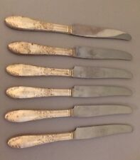 Sterling Silver 6 Unmarked Knives SS6622