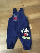 Baby Boy Blue Mickey Mouse Dungarees 3-6 Months