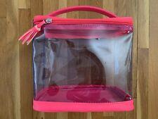 Sephora Pink Makeup Clear Zipper Case 7.5x8.5x4.5 NEW