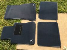 1981-1991 Mercedes-Benz Floor mats carpet OEM W126 300SE 350SD 380SE 300SD BLUE