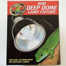 "Zoo Med Mini Deep Dome Lamp Fixture Light 5.5"" (max bulb size 100 watts)"