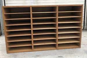 Wooden 24 Pigeon Hole Joiner Made A4 Paper Storage/ Filing / Magazine Unit