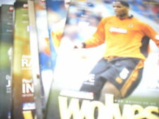 Wolverhampton Wanderers Home Teams S-Z Written - on Football Programmes