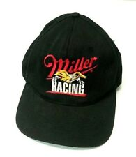Miller Racing Snapback Hat Cap Black Beer Cars