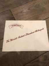 Vincent HRD Original Catalogue Black Lightning Comet Rapide Shadow Grey Flash