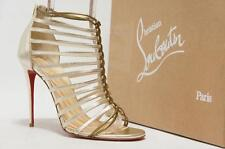CHRISTIAN LOUBOUTIN MILLA METALLIC LEATHER CAGE BOOTIE SHOES 41/10.5 $1095