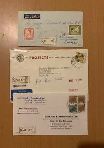 LEBANON LIBAN  COLLECTION POSTAL USED REGISTERED COVER PORT CANCEL LOT (LEB 136)