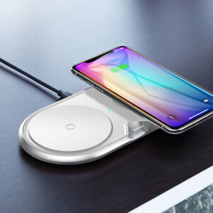 Baseus Dual Twin Wireless Charger with Quick Charge Plug for iPhone 11 Samsung