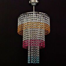 Chrome Lead Crystal Glass Chandelier chandlier Light Chandalier Lamp IT30L/Multi