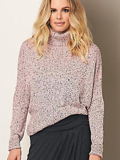 Kaleidoscope Plus Sz 18 20 Pink Turtleneck Cocoon Knit JUMPER Top Oversized £59