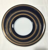 NEW 3pc Christineholm Romanov Cobalt Gold Dinner/ Salad/ Bread Plate 6 set avail