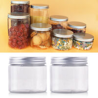 5 X 50-250ML Aluminum Cap Cosmetic Tin Pot Lip Balm Container Oil Holder Nice^