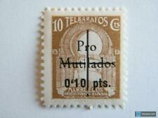 Sello local Guerra civil Marruecos Español Pro mutilados Telegrafos  10 cts **