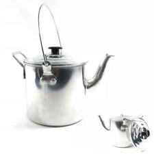 Billy Kettle Camp Kettle Tea Pot Heavy Duty Aluminium Camping 4 Pint 1.75L NEW