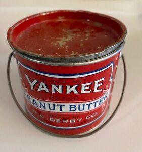 Small Primitive Antique Tin ~ Yankee Peanut Butter Pail