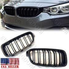 For BMW 12-18 3-Series F30 Sedan F31 Dual Slats Gloss Piano Black Kidney Grille