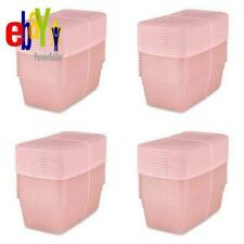 Sterilite 6 Qt. Storage Box Blush Pink Tint Set of 40