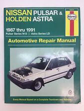 Haynes 72771 Owner's Repair Manual Nissan Pulsar & Holden Astra, 1987-1991 N13