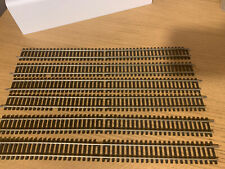 HORNBY R601:DOUBLE STRAIGHT TRACK NICKEL SILVER x 6