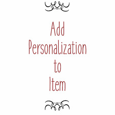 Add Personalization to Item - Add Engraving