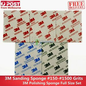 3M Softback Sanding Sponge Grinding and Polishing #150 — #4000