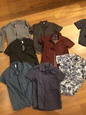 Sz 8 Boys Assorted Shirts X 7 Pieces. EXC! + Bonus Belt & Shirt
