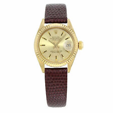 Rolex Datejust 6917 18K Yellow Gold & Leather Automatic Ladies Watch