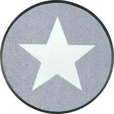 Fussmatte Wash Dry Design Stars Grey 75 Cm rund