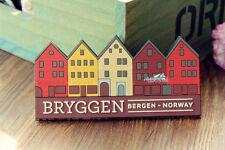 Bryggen Bergen Norway Tourist Travel Souvenir 3D Rubber Fridge Magnet