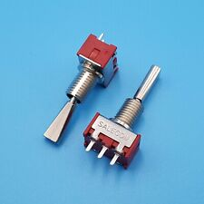 2pcs T7014 U 3pin On Off On 3 Positions Flat Lever Spdt Pcb Mini Toggle Switch