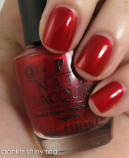 NEW! OPI Nail Polish Lacquer DANKE-SHINY RED ~ full size ~ Germany collection
