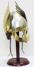 Medieval Mask Viking Helmet Replica Armor Warrior Helmet With Wooden Stand Gift
