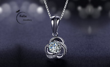 Triangle Swirl 925 Sterling Silver Pendant Necklace Chain Women Jewelly Gifts UK