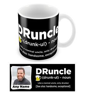 Personalised DRUNCLE Drunk Uncle Mens Photo Mug Christmas Gift Add Any Photo