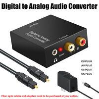 3.5mm Aux Audio Converter RCA to SPDIF For Amplifier Soundbar Speaker HDTV