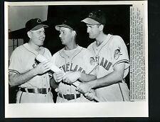 Dale Mitchell Joe Gordon Mickey Vernon 1949 Cleveland News Press Photo Indians