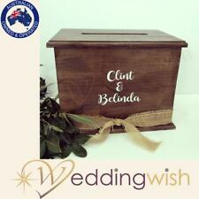 Rustic Wooden Wishing Well with personalised decal
