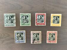 1906 King Edward VII SG145 to SG151 set of 7 Stamps Used BARBADOS