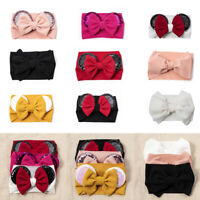 Newborn Baby Girl Headband Bows Sequins Kids Turban Hair Band Elastic Headband