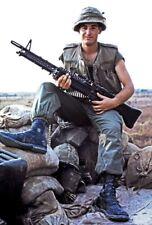 Vietnam War USMC Marine M60 Gunner Proudly Poses High Gloss 8.5x11 Photo