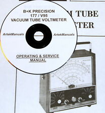 Manual for  B+K PRECISION 177/V95 VTVM Operating+Service+ Schematics