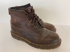 Dr Martens Ladies Brown Leather 6 Eyelet Lace Up Ankle Boots UK 5   A1