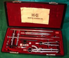K & E Mark 1 Drawing Set With Beam Compass Set# 550130 Vintage Keuffel & Esser