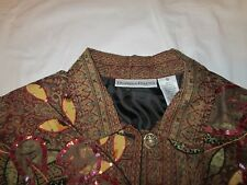 EVENING JACKET OR TOP DRAPER AND DAMON BEADED WITH SEQUINS FLORAL  SZ. S SMALL