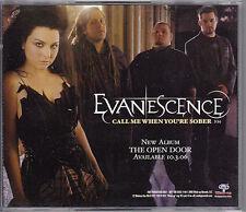 Evanescence Call Me When You're Sober RARE promo CD single '06