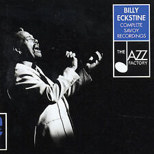 Complete Savoy Recordings by Billy Eckstine (2CD's, 2001, Jazz Factory) VGC