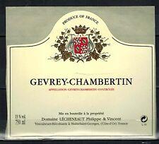 Etiquette de Vin - Bourgogne - Gevrey Chambertin - Réf.n°134