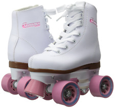 Chicago Girls Rink Roller Skate - White Youth Quad Skates - Size J13, Brand New