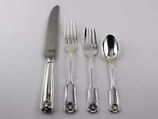 Frank Smith Fiddle Shell Sterling Silver 4 Piece Place Setting - Dinner Size